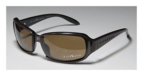 John Richmond 52902 Mens/Womens Designer Full-rim Sunglasses/Eyewear (64-11-130, Dark Khaki)