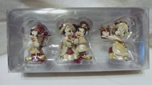 Disney Holiday Collection Set of 3 Mickey and Minnie Victorian Ornaments - Authentic Disney Parks