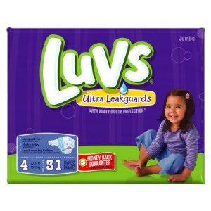 Luvs Diapers Jumbo Pack Size 4 - 31 Ct front-21682