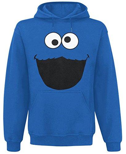 Sesamo Apriti - La felpa con cappuccio di Cookie Monster - Blu - XXL