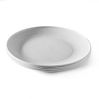 Microwave Safe Plates 8 Piece Eco-Friendly Dinner Plate Set