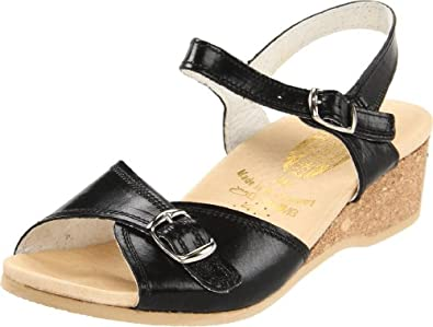 Worishofer Women's 711 Ankle-Strap Sandal,Black,35 EU / 5 B(M) US