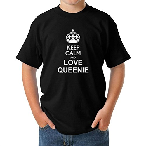Keep calm and love Queenie ボーイズ Tシャツ