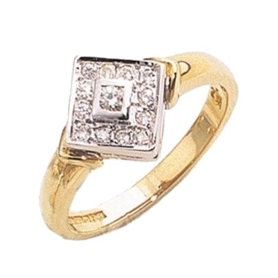 9ct Gold Diamond Square Cluster Ring G2602610
