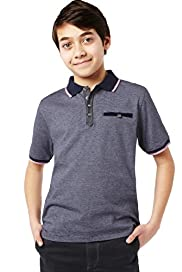Autograph Pure Cotton Striped Polo Shirt with Stay New™