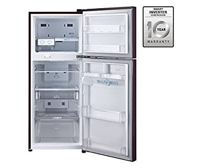 LG GL-D302JSFL Frost-free Double-door Refrigerator (285 Ltrs, 4 Star Rating, Scarlet Florid)