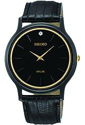 Seiko Men's SUP875 Analog Display Japanese Quartz Black Watch