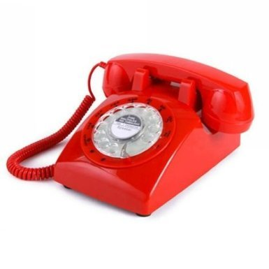 Glodeals 1960's Style Retro Old Fashioned Rotary Dial Telephone (Red) (1960 Old Rotary Dial Telephones compare prices)