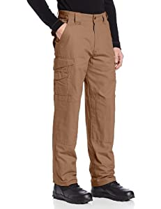 "Tru-Spec 100% Cotton 24-7 Series Pants in Coyote - 28"" Waist / Unfinished Bottom"