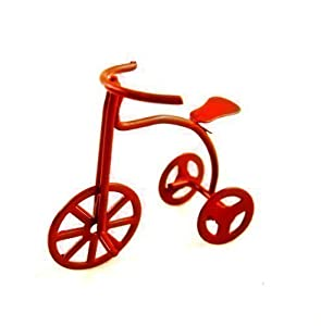 Dolls House Miniature Nursery Toy Shop Accessory Childs Tricycle Bike Red 6020