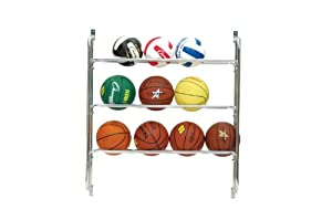Champion Sports Wall Storage Ball Rack
