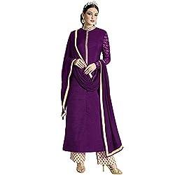 Vasu Saree Purple Colour Resham Work Bhagalpuri Silk Palazzo Dress