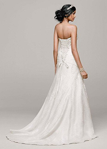 e5bce83d68a59 Petite Size A-line Side Split Wedding Dress with All Over Lace Style  7YP3344,.