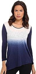 DKNY Jeans Women's Asymmetric Dip Dye Top
