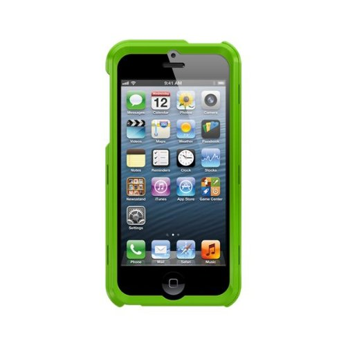 Trident AP-IPH5-TGBLU Apollo Cover per Apple iPhone 5/5S incl. Blu Wechselplatte Verde
