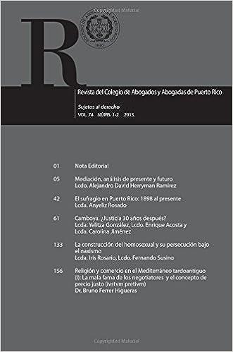 Revista del Colegio de Abogados y Abogados de Puerto Rico Vol. 74 1-2: Sujetos a derecho (Revista Colegio de Abogados) (Volume 74) (Spanish Edition)