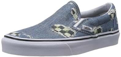 VANS Shoes - CLASSIC SLIP ON - denim checkered black, Größe:40.5