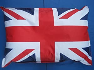 England Union Jack Large Pet Dog Cat Bed Bean Bag Cushion Red White Blue by Hallways Household Textiles Ltd