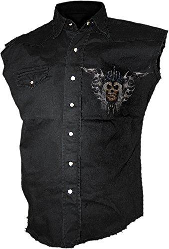 Spiral -  Camicia Casual  - Uomo Black X-Large