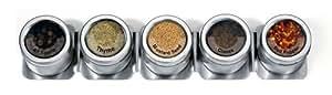 Kamenstein 5-Canister Magnetic-Strip Spice Rack