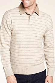 Blue Harbour Rugby Striped Jumper with Lambswool [T30-2418B-S]