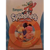 Pampers Splashers Disposable Swim Pants Featuring Sesame Street's Elmo, Size 5 (30-40 Lb./14-18 Kg.), Pack Of 25