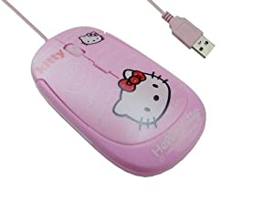 Hello Kitty Ultra-thin Optical Wired USB Mice Mouse 1200 DPI for PC Laptop Desktop Notebook, High Performance, Portable, Cute Pink, Slim, P249 from Noukong Holdings (Hong Kong) Limited