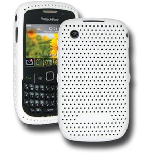Amzer Mesh Silicone Skin Jelly Case for BlackBerry Curve 8520 / 3G 9300 - White
