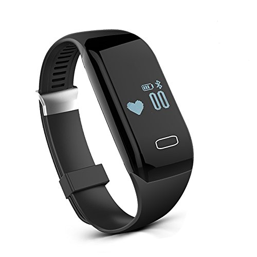 Fitness Watch, Heart Rate Monitor Tracker, Pedometer Bluetooth Sports Bracelet Activity Waterproof Tracker with Steps Counter for Android iOS Smartphone