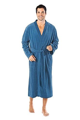 WeWo Fashion by Otto Werner WEWO Fashion - Herren Bademantel / Kimono - # 2754 - in Nicki Qualität (XL-54, Blau)