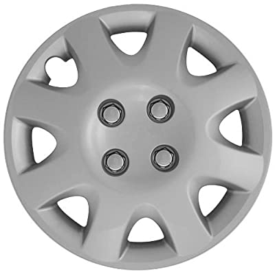 CCI IWCB895-14S 14 Inch Clip On Silver Finish Hubcaps - Pack of 4