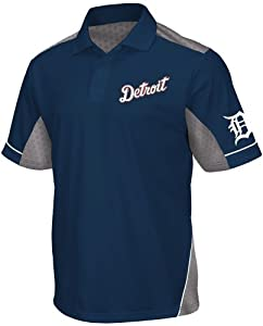 Detroit Tigers Majestic MLB Victory Anthem Performance Polo Shirt - Navy by Majestic