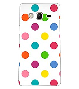 PrintDhaba Coloured Dots D-1233 Back Case Cover for SAMSUNG Z3 (Multi-Coloured)