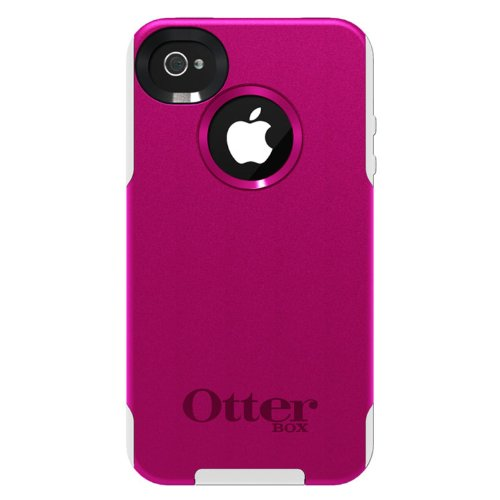 OtterBox Commuter Series Case for iPhone 4/4S - Frustration-Free Packaging - Hot Pink/White