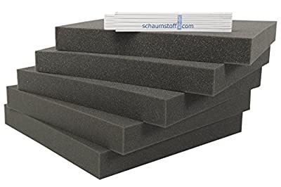 Schaumstoff Platten Set 5 stk je 40x40x4cm Polsterauflagen von schaumstoff.com bei Gartenmöbel von Du und Dein Garten