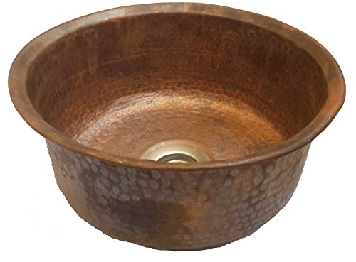 Rustic Burnt Fired Antique Finish Copper Bathroom Sink Bowl, rustic ...