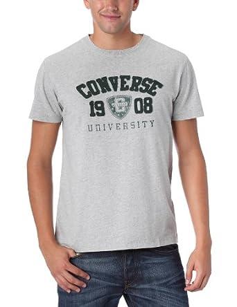 Converse Kirk - T-Shirt Team College - Homme - Gris Chiné - S