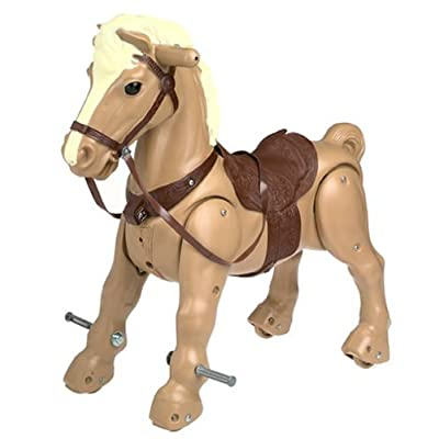 Amazon.com: Marvel the Mustang Horse Ride-On Tan Horse with Brown