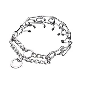 Guardian Gear Chrome Plated Steel Prong Dog Collar, 18-Inch