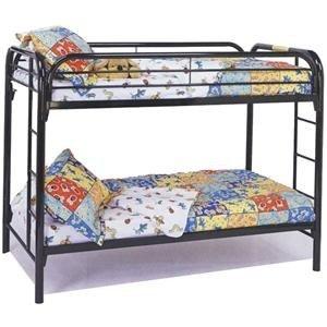 Black Metal Bunk Beds 7956 front