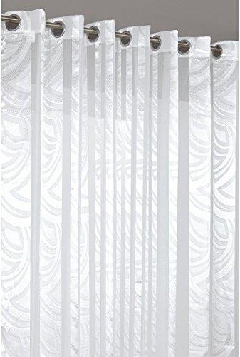 rideau voilage grande largeur au motif vagues 280x240cm blanc les petites annonces gratuites. Black Bedroom Furniture Sets. Home Design Ideas