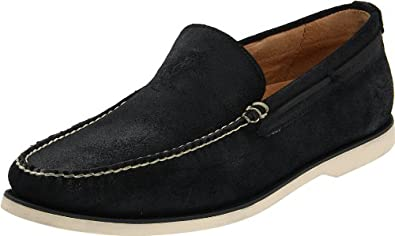 Polo Ralph Lauren Men's Blackley Slip-on, Black Leather, 8 D US