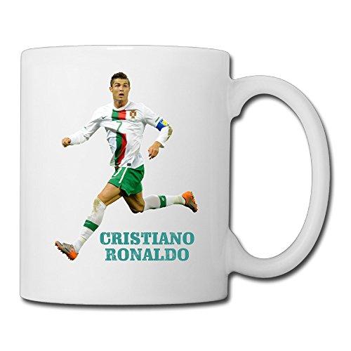 Cool Cristiano Ronaldo Ceramic Coffee Mug, Tea Cup | Best Gift For Men, Women And Kids - 13.5 Oz, White