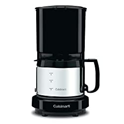 Cuisinart Black 4 cup Coffee Maker with S/S Carafe from Cuisinart