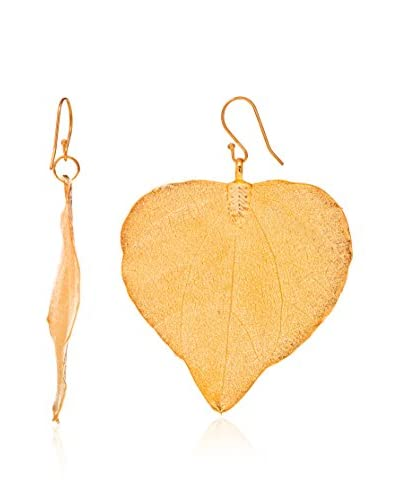 Ana Natural Leaves Pendientes