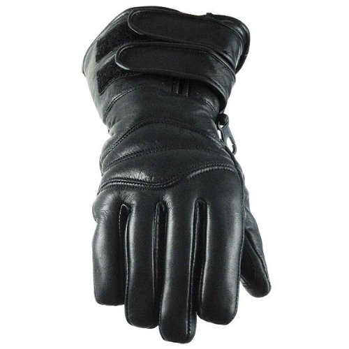 Double Strap Naked Cowhide Leather Gloves L