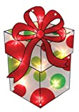 Impact Innovations Christmas Shimmer Lighted Window Decoration, Present image