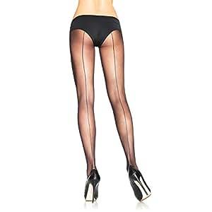 Amazon.com : Leg Avenue Back Seam Sheer Pantyhose : Sports & Outdoors