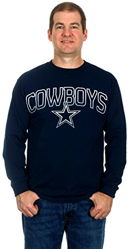 Dallas Cowboys Men's Long Sleeve Cotton T-Shirt (X-Large)