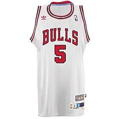 John Paxon Chicago Bulls Adidas NBA Throwback Swingman Jersey - White by adidas